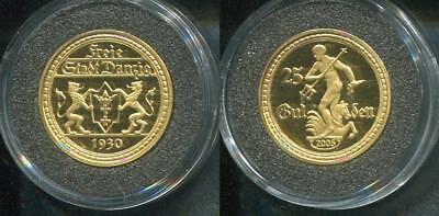 DANZIG 1930 - 25 Gulden in 585 Gold (3,5g), PP - WAPPEN