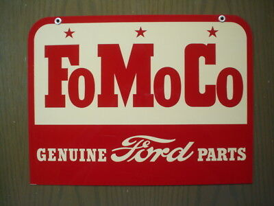 VINTAGE ORIGINAL 1950's FOMOCO GENUINE FORD PARTS DOUBLE-SIDED METAL SIGN PA8002
