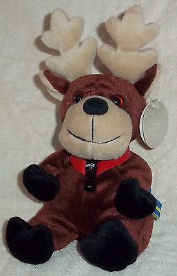 NWT MOOSE REINDEER PLUSH TOY COCA-COLA INTERNATIONAL Coke Baltic Sweden Brown