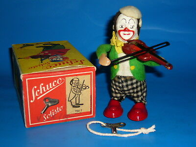 Schuco Clown Violine, 50er Original, UNBESPIELT MINT