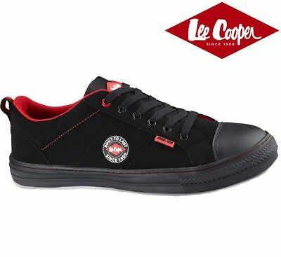 Mens Lee Cooper Black safety shoes Trainers Metal toe Cap UK size 3