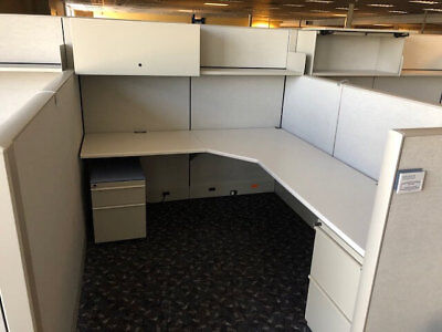 Used Office Cubicles, Knoll Dividends Cubicles 6x7