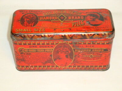 Nice Old Chi-Ches-Ters Abortion Pills Advertising Pharmaceutical Medicine Tin