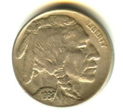 1937 D Buffalo Nickel 3 Legs AU+++ In Grade Key Date 3 Legged Buffalo Lustrous