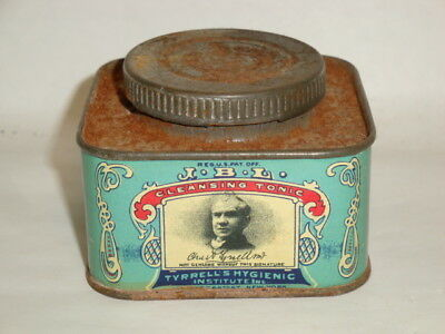 Nice Old JBL Female Douche Tonic Advertising Pharmaceutical Medicine Tin Can