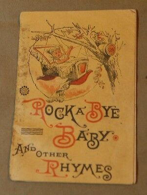 Antique Victorian Trade Advertising Nursery Rhymes Booklet CLARK'S SPOOL COTTON