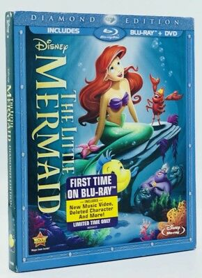 Little Mermaid, The (Blu-ray+DVD, 2013, Diamond Ed.) NEW w/ Slipcover Authentic
