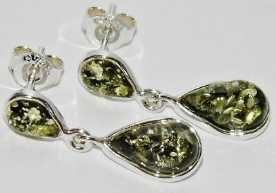 [BAL DE CLOTURE 2019] A NIGHT TO REMEMBER Green-Amber-Sterling-Silver-925-Ladies-Pear-Drop