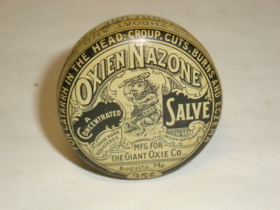 Nice Old Litho Oxien Salve Advertising Pharmaceutical Medicine Tin Can