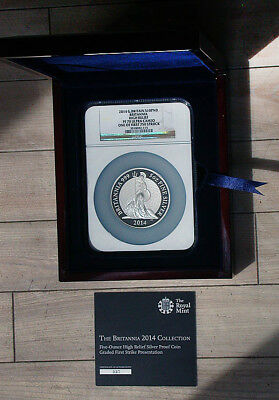 2014 Gr. Britain NGC PF70 Ultra Cameo Britannia High Relief 10 Pound rb