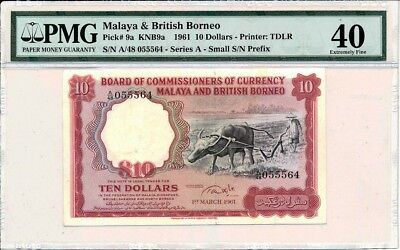 Board of Commissioners of Currency Malaya and British Borneo  10 1961  PMG  40