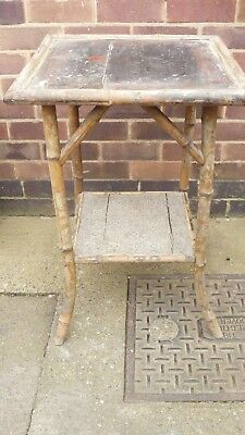 Vintage Bamboo hall table ideal project for shabby chic look