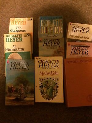 9 X Georgette Heyer Paperback Books