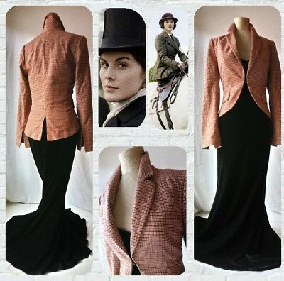 Superb vintage classic British Country equestrian Downton tweed tailored jacket