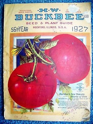 1927 antique BUCKBEE SEED & PLANT GUIDE CATALOG  - w/FORM & ENV - 177 PAGES