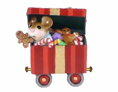 Wee Forest Folk M-453g Christmas Candy Box Car