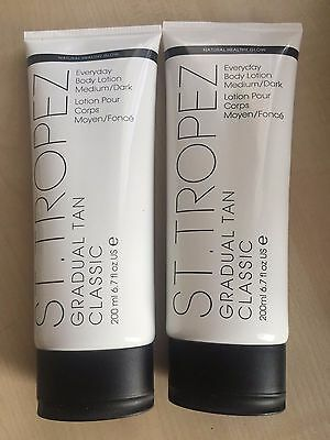 ST TROPEZ Gradual Tan Classic Everyday Body Lotion Medium/Dark  200 ml X 2
