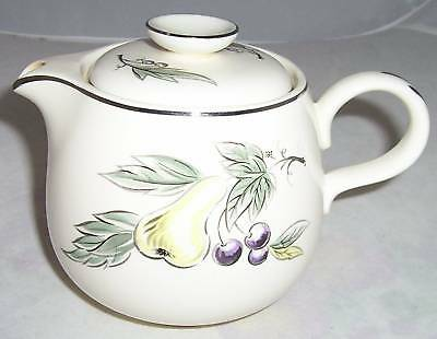 Homer Laughlin Rhythm Debutante Teapot Tea Pot Grape Pear Fruit