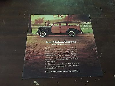 1975 Ford Station Wagons Car Auto Dealership Advertising Brochure