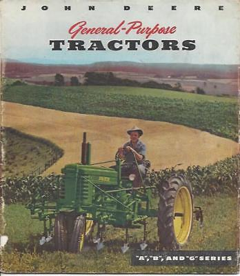 John Deere A, B and G Series General-Purpose Tractors brochure 1949