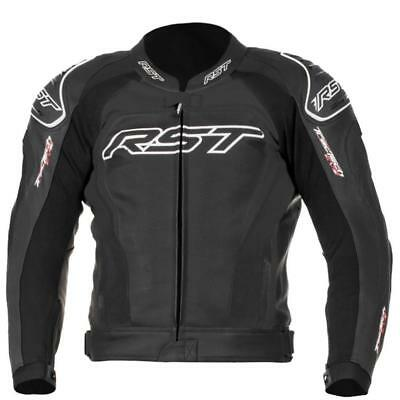 Rst 1425 Tractech Evo 2 Leather Motorcycle Jacket Black  Size 48 Chest New
