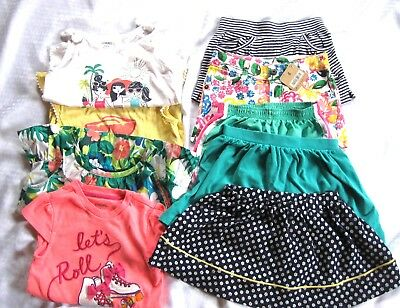 Spring Summer Girl Clothes Lot 9 Pieces Gymboree Shorts Tops Skirts Size 5-6