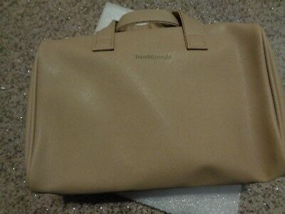 c19531d72638 BAREMINERALS COSMETIC MAKE-UP Bag ~ GOLD STREAKED Vinyl w/ Golden ...