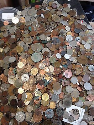 Old Less Than Perfect Coin Lot - 3 POUNDS - Coins/Tokens - Treasure Hunt - #A15