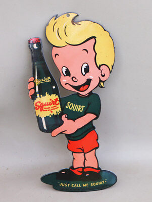 """12"""" SQUIRT BOY With Bottle Sign JUST CALL ME SQUIRT modern retro"""