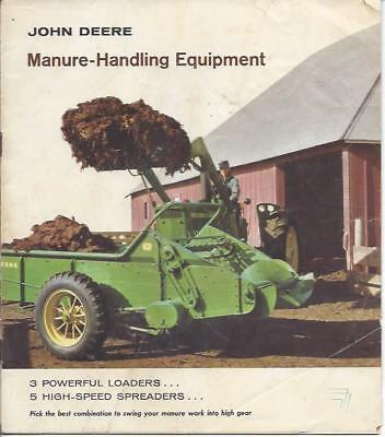 John Deere Manure Handling Equipment brochure 1961