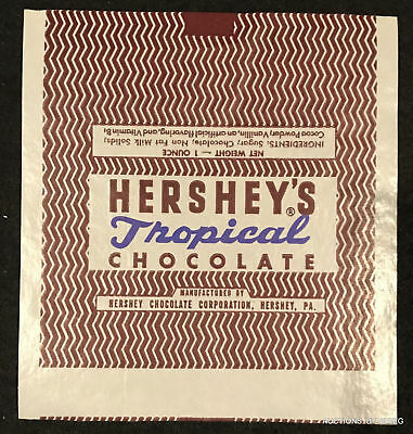#41  Hershey's Tropical Chocolate Wrapper Circa 1947 Unused  Mint Condition.