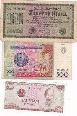 7 1922-2004 Circulated Notes From All Over