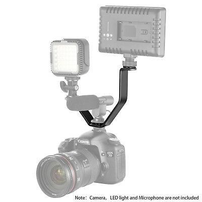 Neewer V-shape Flash Bracket Stand with Triple 3 Universal Cold Shoe Mount