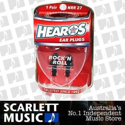 HEAROS Rock N Roll Musician Ear Plugs 1 Pair Reusable - w/ FREE Case