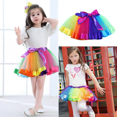 Girls Kids Baby Dance Costume Fluffy Tutu Skirt Pettiskirt Ballet Dress Fancy