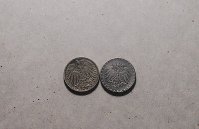Two Early German Coins. 1907 and 1916. Excellent Appearing Coins.