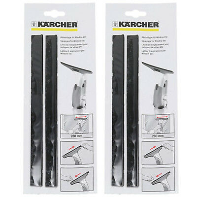 KARCHER WV2 WV5 WV50 Window Vacuum Vac Rubber Lip Squeegee Blades 170mm x 4