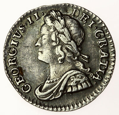 1750 Silver Maundy Penny ~ George II ~ Good Grade