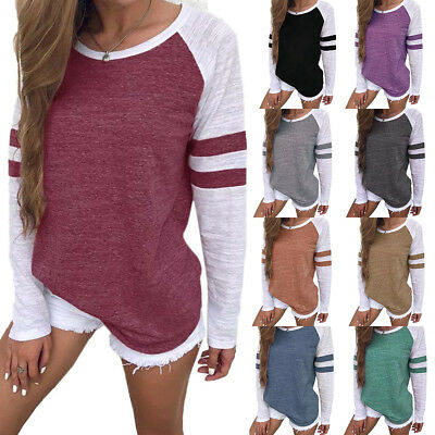 Women's Long Sleeve Sweatshirt Pullover Tops Ladies Casual Loose T Shirts Blouse
