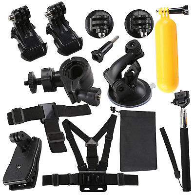 12 in 1 Accessories Kit for GoPro Hero 5 4 3 2 1 Action Camera Bundle Set SJCAM