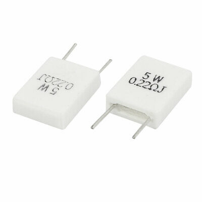 2 Pcs White 0.22 Ohm 5% Wirewound Ceramic Cement Resistor 5 Watt