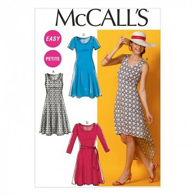 McCalls Ladies Easy Sewing Pattern 6957 Simple Jersey Dresses & Belt (McC...