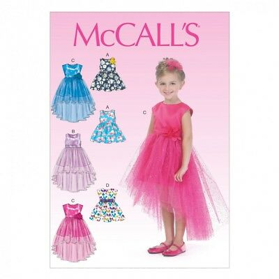 MCCALLS CHILDRENS Sewing Pattern 7077 Pretty Party Dresses (McCalls ...