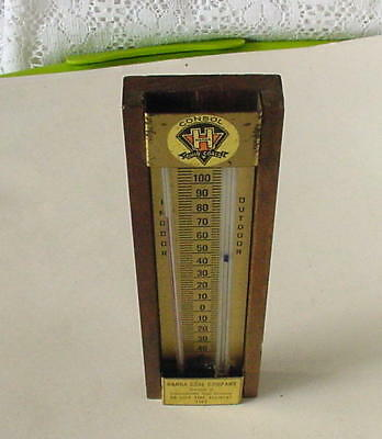 1969 Hanna Coal Company Indoor Outdoor Thermometer-No Lost Time Accident Usa