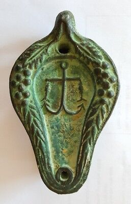 Terracotta Clay Oil Fat Finger Lamp With Two Fish And Hook Nautical Motif