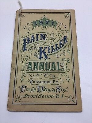 1871 Painkiller Annual Perry Davis & Son Providence R I 36 Pages