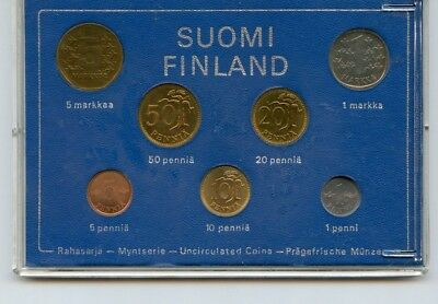 1974 Suomi Finland 7 Pc. Uncirculated Coin Set!!!!..starts @ 2.99