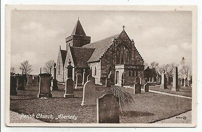 POSTCARDS-SCOTLAND-ABERLADY-PTD. The Parish Church.