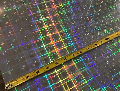HyperPlaid Holographic Sign Vinyl 24 Inch x 10 Feet,   FREE Shipping for USA