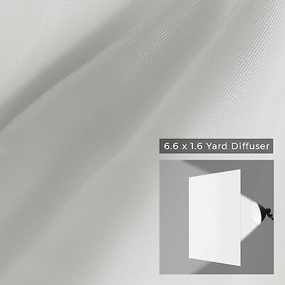 6.6 yd x 1.6 yd(19.8ft x 4.8ft) Seamless White Diffusion Fabric for Photography